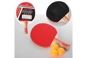 Ракетка детская MaxLend для настольного тенниса, черно-красная. Спортивные подарки для детей