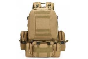 Рюкзак тактический с подсумками Kronos B08 койот, 55 л