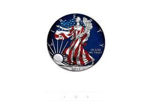 Серебряная монета 1 доллар США 2018 год. Тираж 100 экземпляров в мире