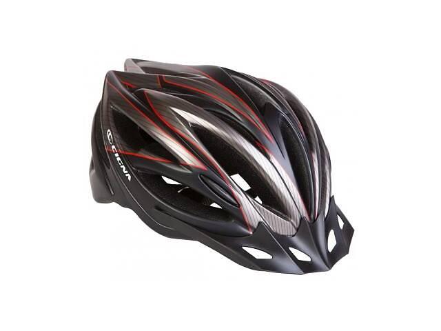 продам Шлем Velotrade с козырьком СIGNA WT-068 черно-красный L (58-61см) (HEAD-018) бу в Харкові