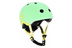 Шлем защитный детский Scoot and Ride с фонариком, киви (51-55 см (S-M))