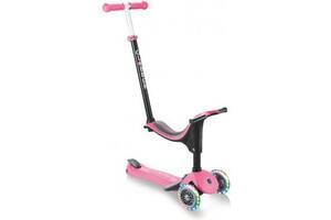 Скутер Globber Go up sporty plus lights 5 в 1 рожевий з підсвічуванням (642-110)