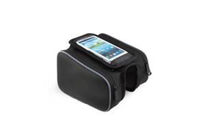 Сумка велосипедна під смартфон Sahoo Top-tube Bag 12813L-A 0,8L Чорний (6920636715854)