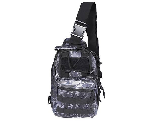 бу Тактическая военная сумка-рюкзак OXFORD 600D Черно-серая  (006878_gr) в Киеве