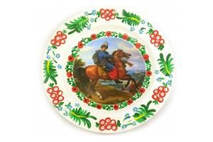 Тарелка Казак на коне расписано вручную (24 см) 30440D