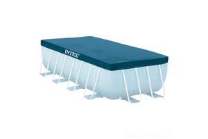 Тент для прямоугольного каркасного бассейна Intex 28037 (размер 400х200 см), синий