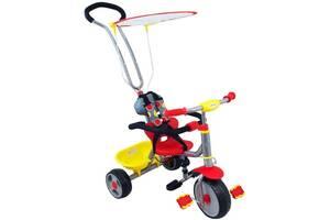 Трехколесный велосипед детский с родительской ручкой, красный (4206)