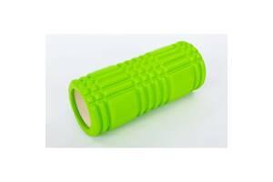 Валик массажный Profi для спины и йоги (MS 0857-3) Зеленый
