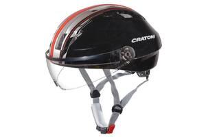 Велошлем Cratoni Evolution light черный/красный р. S/M (53-58 см)