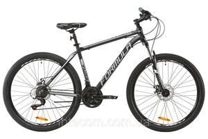 """Велосипед горный мужской 27.5"""" Formula Thor 1.0 2020 алюминиевая рама 19"""" черно-серый с белым"""