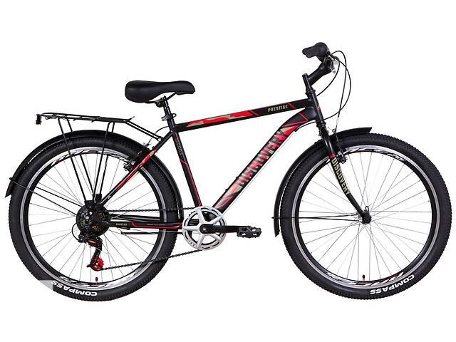 """бу Велосипед городской мужской 26"""" Discovery Prestige Man 2021 рама 18"""" черно-красный с хаки в Запорожье"""