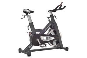 Велотренажер спінінговий inSPORTline Airin на 150 кг, чорно-сірий