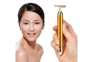 Вибромассажер для лица ионный Revoskin Energy Beauty Bar Gold