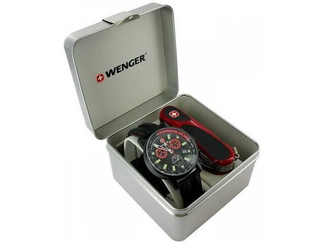 продам Замечательный набор часы и нож Wenger 70731.XL черный бу в Киеве