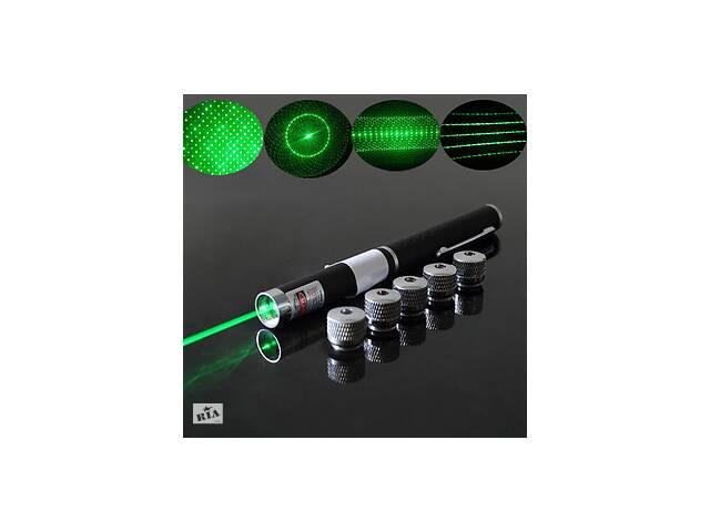 купить бу Зеленая лазерная указка + 5 насадок Звездное небо в Одессе