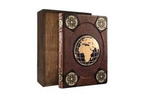 Книга подарочная BST 860292 275х370х40 мм Большой атлас мира (Мarma Brown)