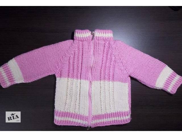 продам Кофточка на девочку тёплая, вязаная (1-1,5 года, 70–82см)  бу в Киеве