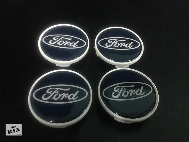 продам Колпачки в титановые диски Ford 50мм V1 синие силикон (4 шт) бу в Черновцах