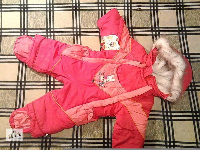 купить бу Комбинезон-трансформер на девочку, детский зимний комбинезон, зимний конверт для новорожденной девочки в Мелитополе
