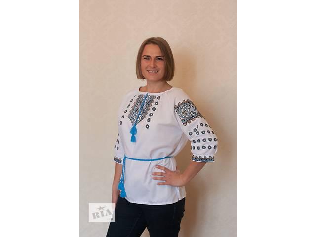 Комфортна блузка з оригінальною вишивкою- объявление о продаже  в Киеве