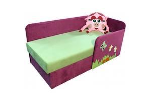 Дитячий диванчик ліжечко Ribeka Смішарик 14M33-Р (правий) Рожевий/зелений