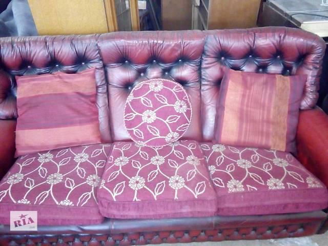 бу Комплект диванов Chesterfield 3+2+1 (натуральная кожа) в Жидачове