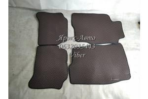 Коврики Mitsubishi Galant '96-03, EVA-полимерные, коричневые (Kinetic)