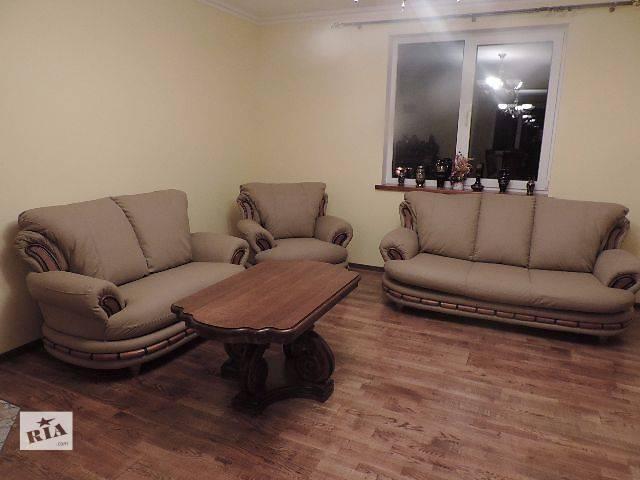 продам кожаная мебель, кожаный диван + 2 кресла Atena. бу в Дрогобыче