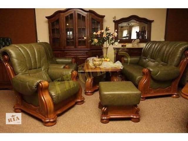 кожаный диван на дубе Cezar III,- объявление о продаже  в Дрогобыче