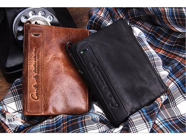 Кожаный мужской кошелек- объявление о продаже  в Львове