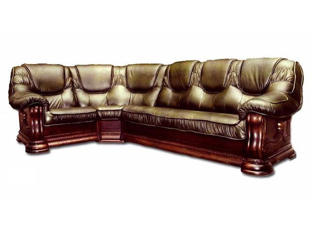 бу Шкіряний кутовий диван Grizzly коричневий колір   в Києві