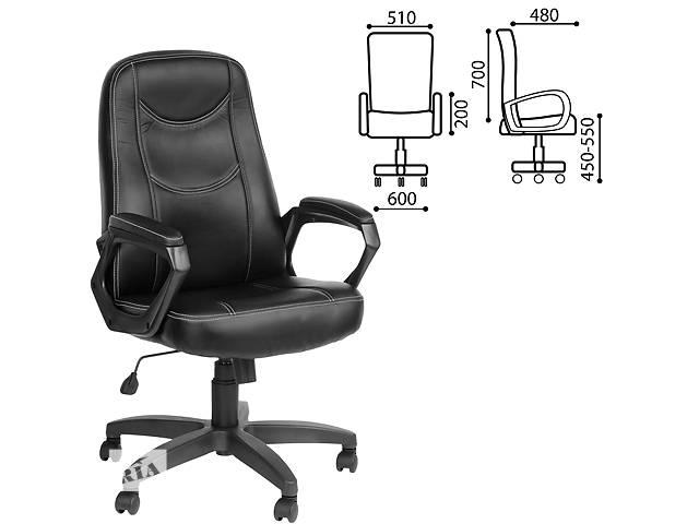 """бу Кресло офисное """"Стандарт"""", CH 511, кожзам, черное, ш/к 13074 в Севастополе"""