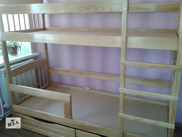 бу кровать двухъярусная деревянная купить в Луганске недорого в Луганске