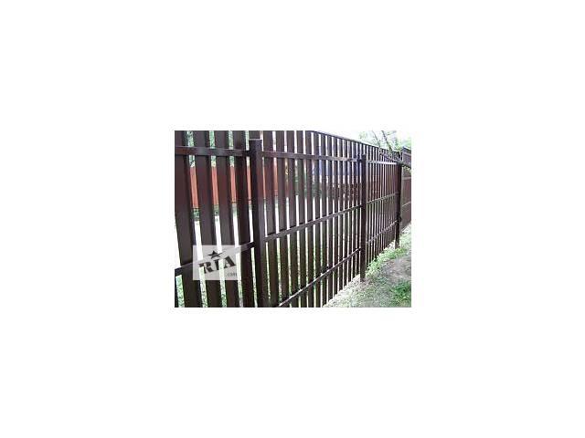продам Купить штакетный забор металлический, штакетник ограждения из профиля бу в Житомире