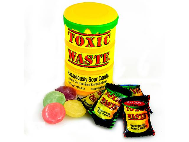 бу Кислые конфеты ToxicWasteSourCandy в Харькове