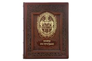 Книга Князья Острожские 255х310х35 мм подарочная в кожаном переплете BST 260189