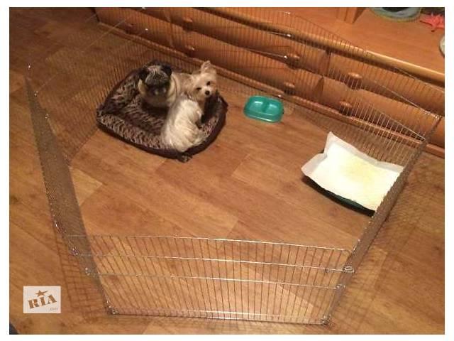 бу Манеж для собак, котят, щенков 6 секций (диаметр 140 см) в Киеве