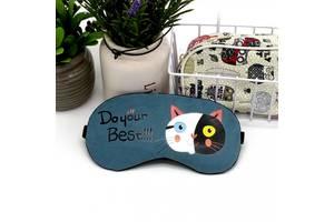Маска для сна Черно-белый кот SKL32-152725