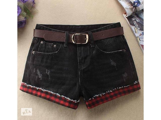 Рваные джинсовые шорты с высокой талией.- объявление о продаже  в Виннице