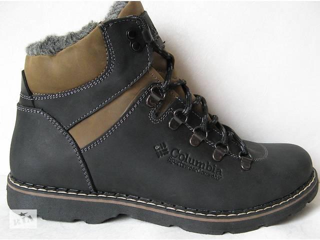 0452f5a52 Columbia мужские зимние ботинки натуральная кожа мех Коламбия сапоги обувь  комфорт зима тепло черевики качество 2018