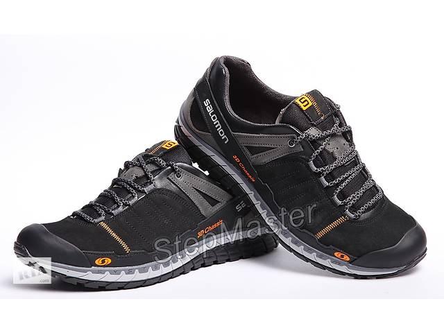 купить бу Кожаные кроссовки Salomon 3D Chassis Black в Вознесенске