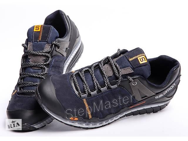 Кросівки чоловічі шкіряні Salomon сині і чорні- объявление о продаже в  Вознесенську 4f73284a605b9