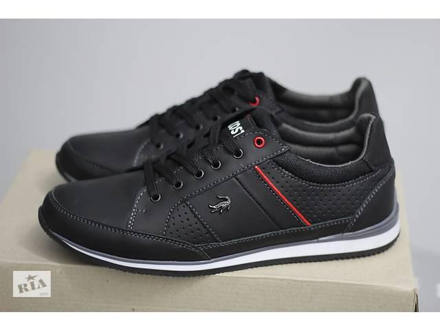 d73f25ecd678 продам Lacoste street L1188 черные мужские кроссовки из натуральной кожи бу  в Чугуеве