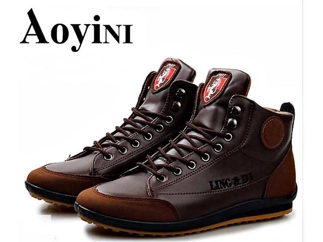 купить бу Модные, мягкие, высокие мужские ботинки из натуральной кожи в  Виннице f9fba0994e1