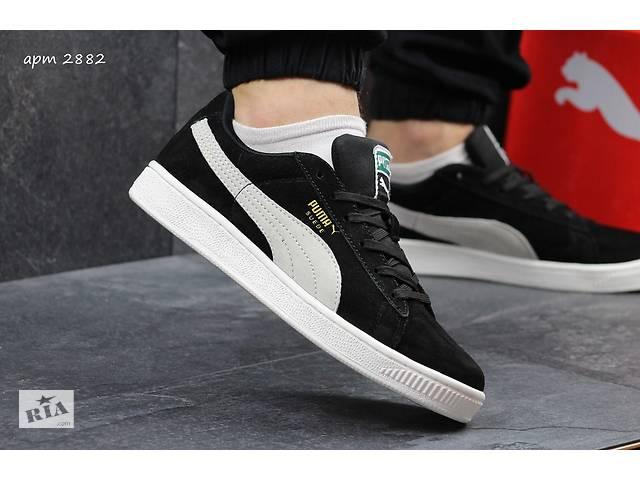 f6abcfec0aadea Чоловічі Кросівки Puma Suede замшеві чорні і сині - Чоловіче взуття ...