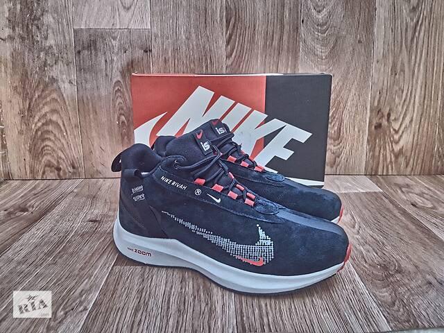 бу Мужские Зимние Кроссовки Nike Rivah Winter замшевые синие с мехом в Херсоне