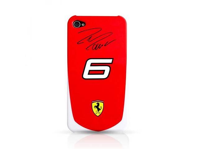 купить бу Чехол CG Mobile Ferrari Scuderia Massa №6 back для iPhone 4 Красный (BS-0000007488) в Киеве