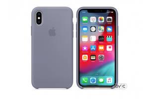 Чехол для Apple iPhone XS Silicone Case Lavender Gray (MTFC2)