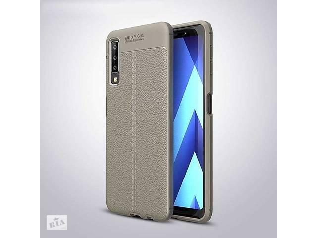 бу Чехол для Samsung A750 / A7 2018 силикон Original Auto Focus Soft Touch серый в Києві