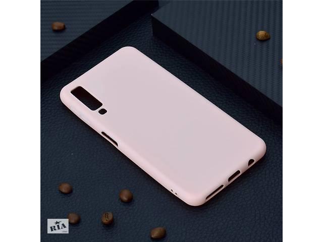 купить бу Чехол для Samsung A750 / A7 2018 силикон soft touch бампер светло-розовый в Києві